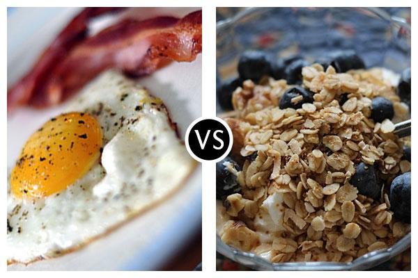 Nutritional Battle Royale I – Bacon & Eggs Vs. Granola