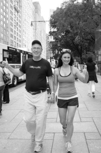 My Dad and I in New York, 2011.